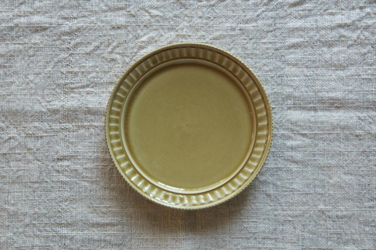 鎬リム皿 M 黄色
