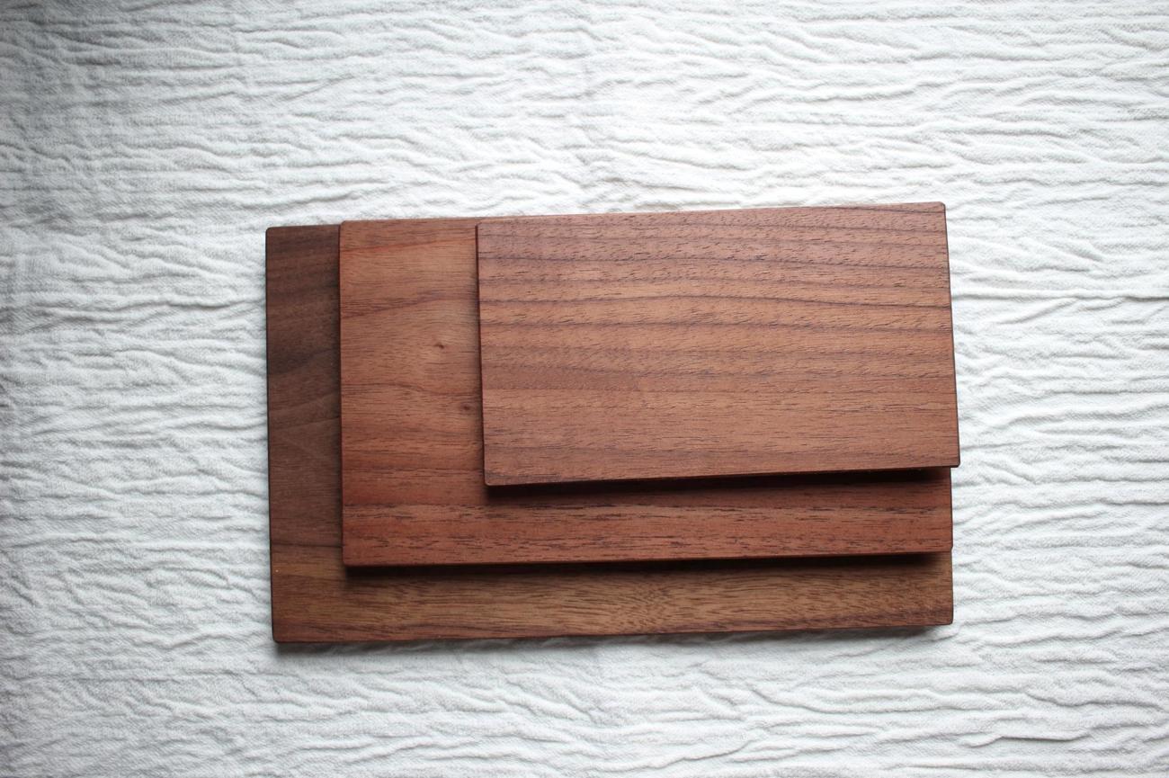 木のプレート長方形(ウォールナット)
