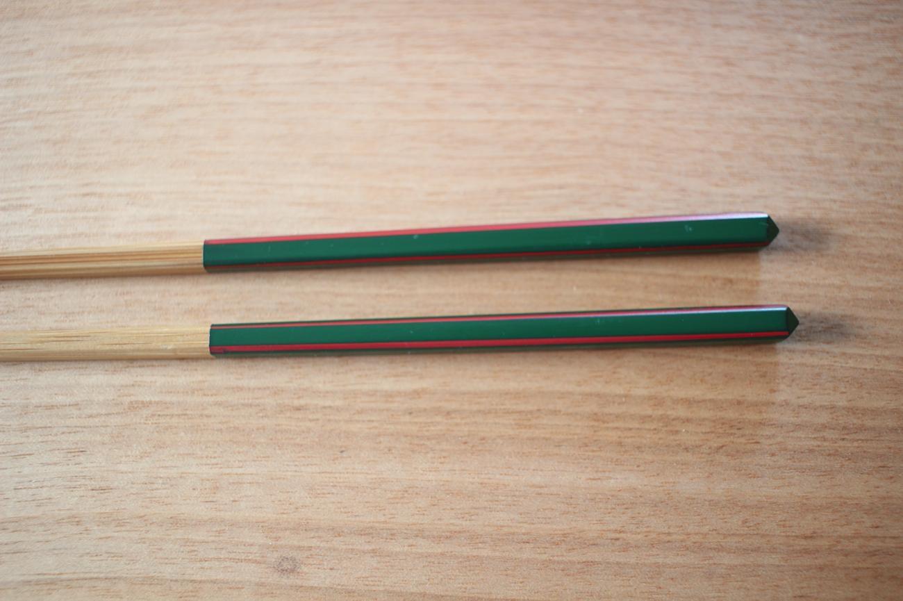 ダイヤカット研出箸(緑)