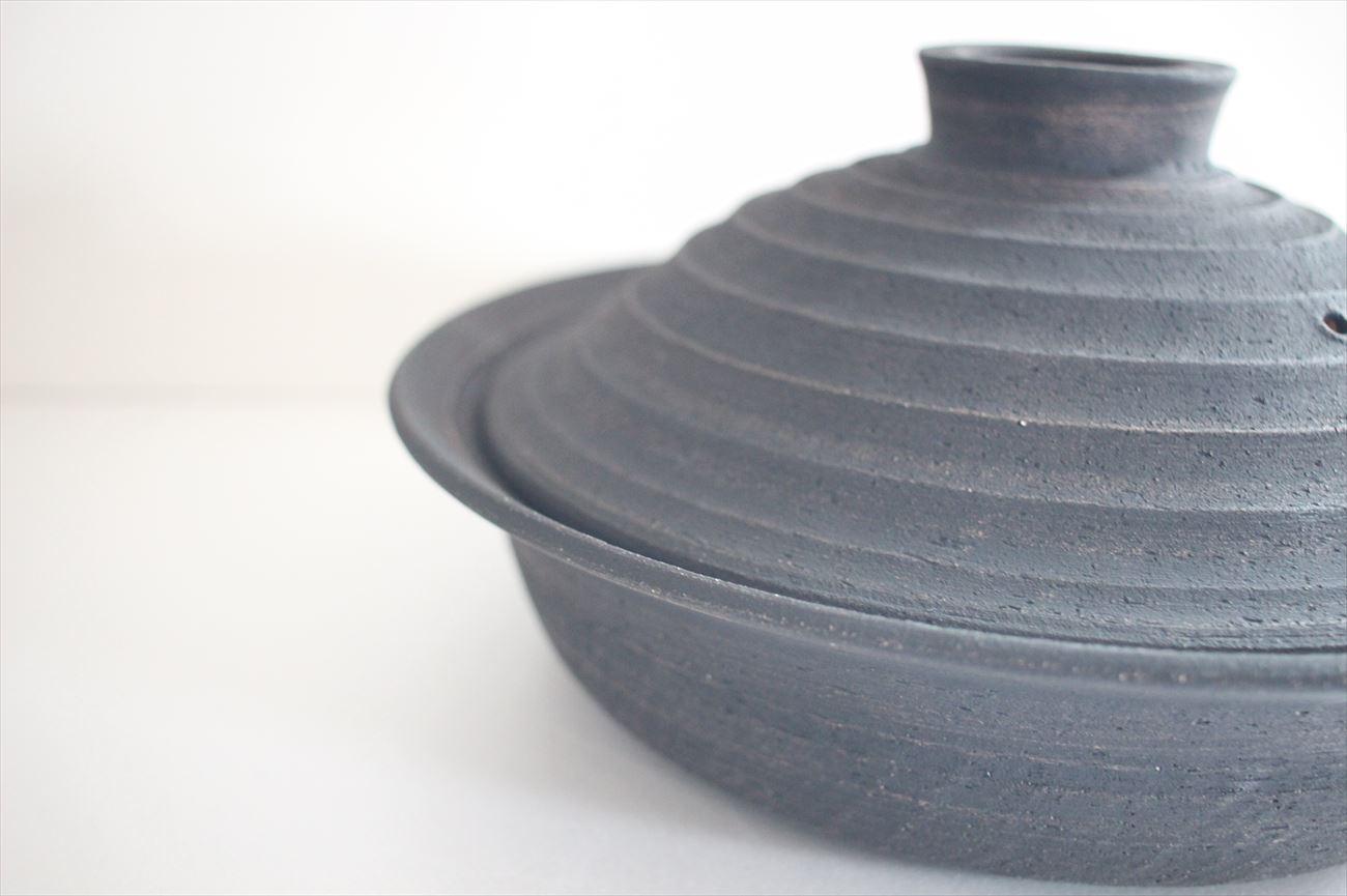 黒土鍋 浅鍋3合