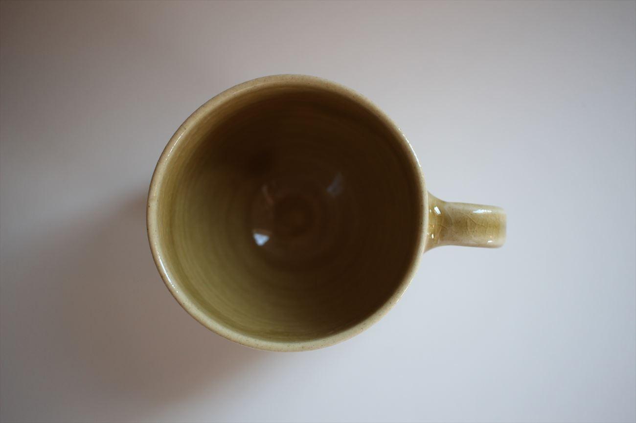 マグカップ からし色