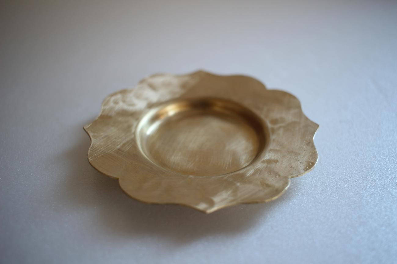 茶托 真鍮 輪花