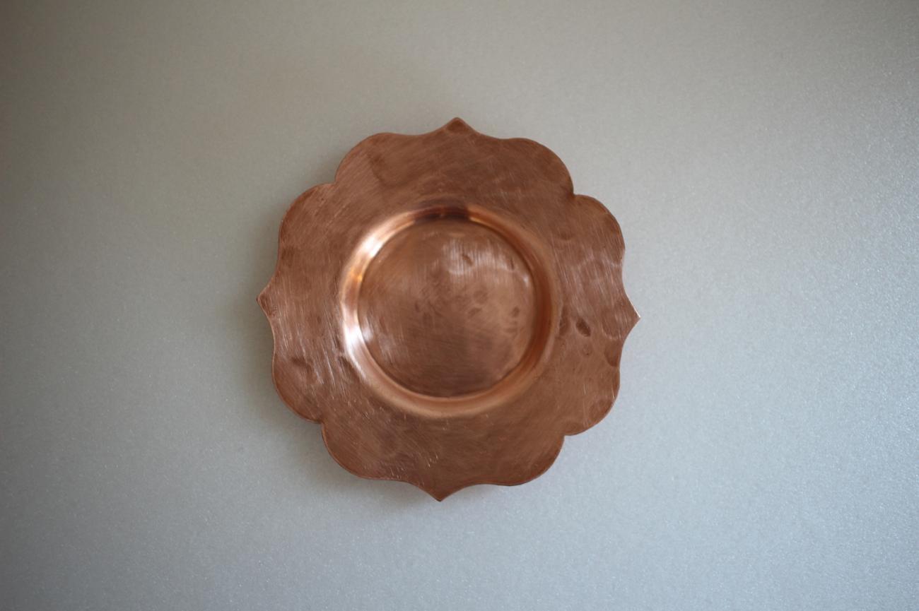 茶托 銅 輪花
