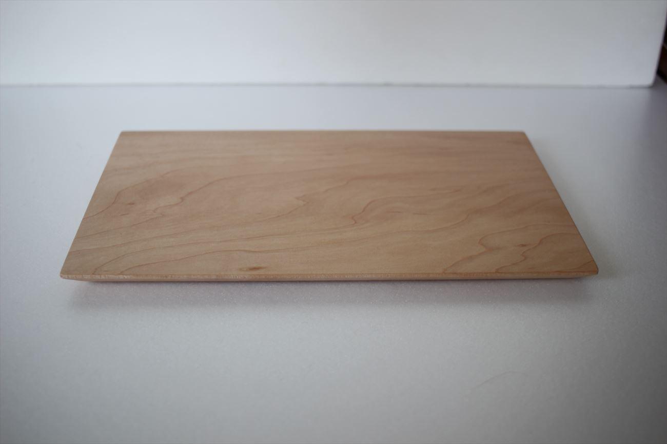 木のトレイ長方形(L) メープル材