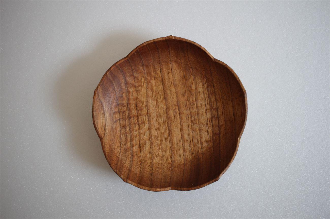 桃皿(くるみ材)
