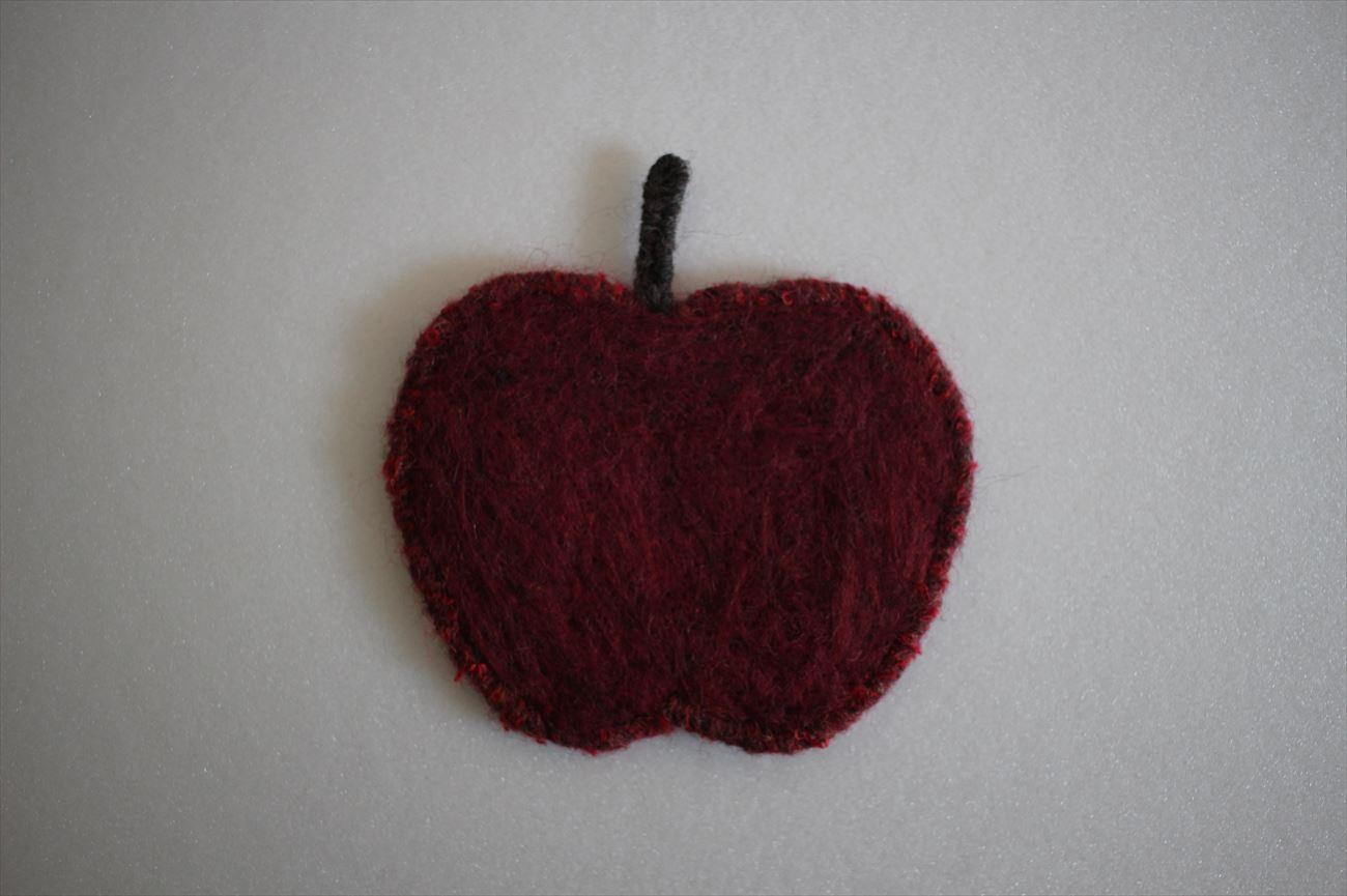 羊毛フェルトコースター りんご