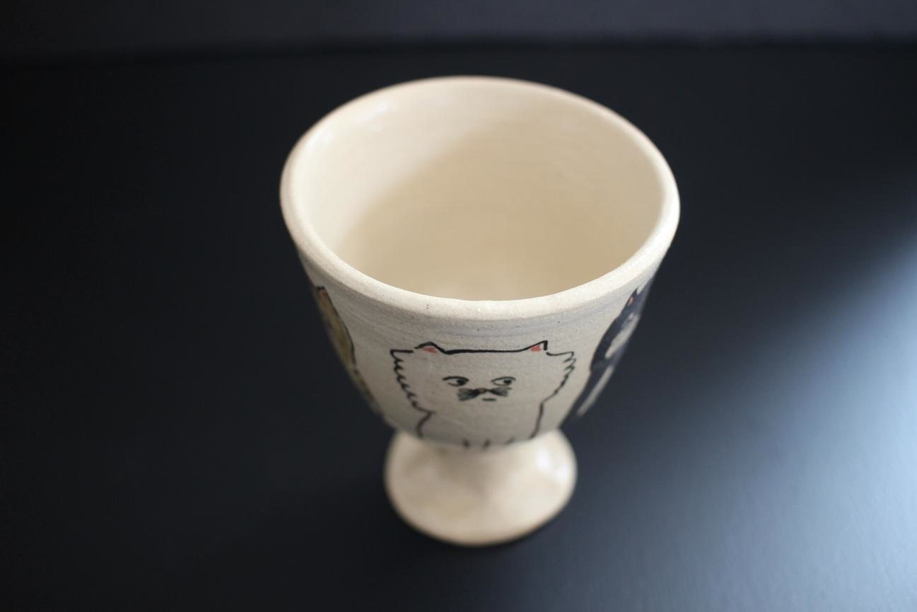 室井雑貨屋(室井夏実)|ワイン杯① 猫