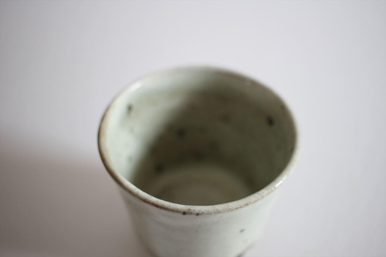 もみ灰釉立コップ