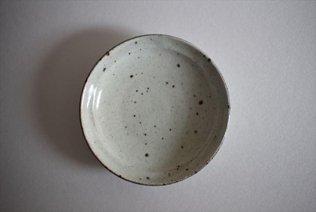 粉引5寸リム皿