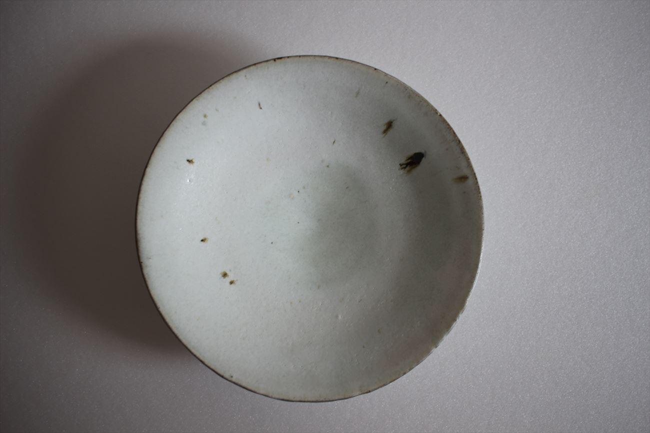 もみ灰釉6寸平鉢①